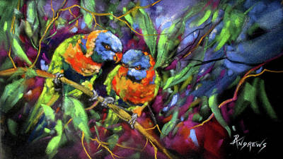 Painting - Treetop Rascals by Rae Andrews