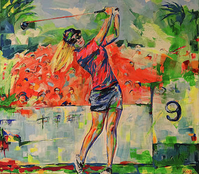 Painting - Treibschlag Vom 9 Tee  Drive From The 9th Tee by Koro Arandia