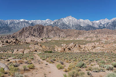 Photograph - Trek Thru Alabama Hills  by Michael Ver Sprill