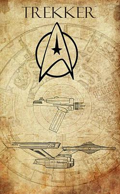 Klingon Wall Art - Digital Art - Trekker by Greg Sharpe