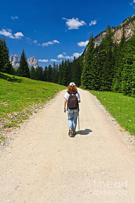 Photograph - trekking in Contrin Valley by Antonio Scarpi