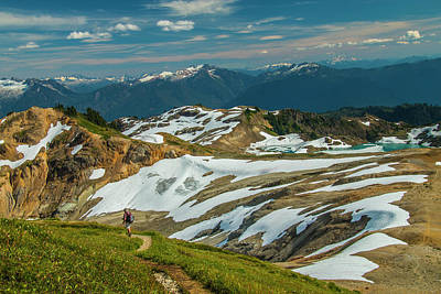 Photograph - Trekking Ptarmigan Ridge by Doug Scrima