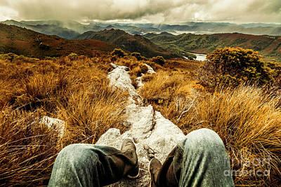 Hiking Wall Art - Photograph - Trekking Tasmanian Mountains by Jorgo Photography - Wall Art Gallery