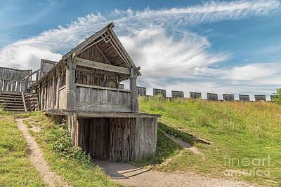 Reconstruction Photograph - Trelleborg Viking Fort Exit by Antony McAulay