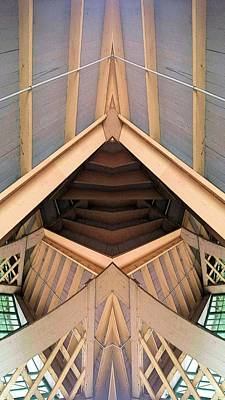 Trellis With Rafters Print by Ron Bissett