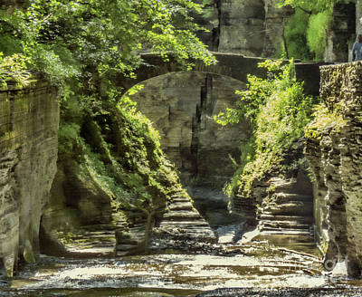 Photograph - Treman State Park Bridge by Darleen Stry
