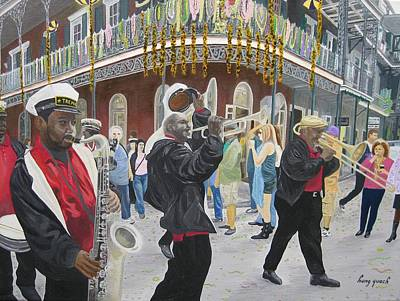 New Orleans Oil Painting - Treme Band by Hung Quach