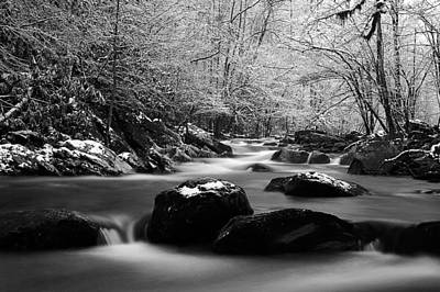 Photograph - Tremont Treasure Great Smoky Mountains National Park Black And White by Joel E Blyler