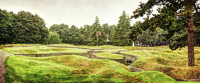 Photograph - Trenches At Vimy Ridge - Vintage Version by Weston Westmoreland