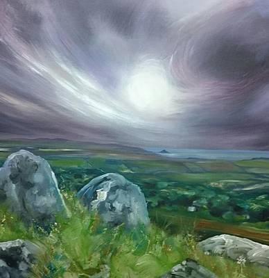 Painting - Trencrom To Marazion  by Keran Sunaski Gilmore