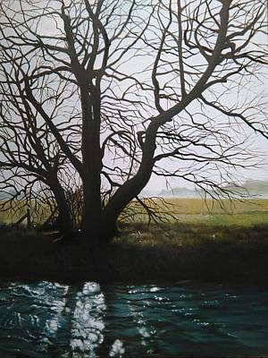 Painting - Trent Side Tree. by Caroline Philp