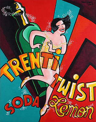 Fizz Painting - Trentitwist Soda by Thom Reaves