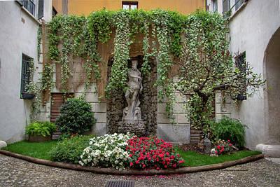 Photograph - Trento Courtyard Garden by Carolyn Derstine