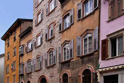 Photograph - Trento Italy Windows by Carolyn Derstine