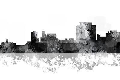 Nj Digital Art - Trenton New Jersey Skyline by Marlene Watson