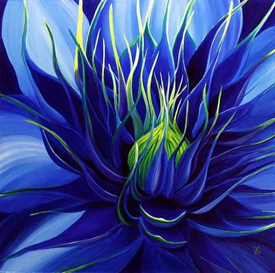 Clematis Painting - Tres Azul by Julie Pflanzer