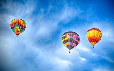 Photograph - Tres Balloons by AJ Schibig