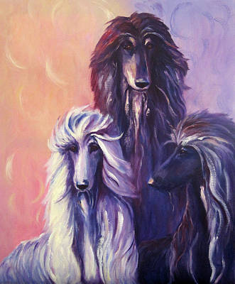 Animals Paintings - Tres Banditos by Terry  Chacon