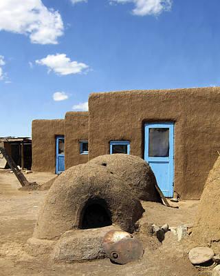 Tres Casitas Taos Pueblo Art Print by Kurt Van Wagner