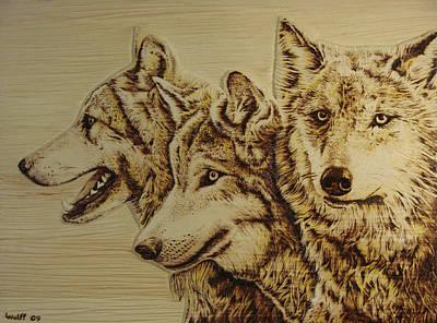 Tres Lupus Original by Chris Wulff