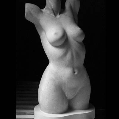 Sculpture - Tres Mese by Jacqueline Del  Fonso