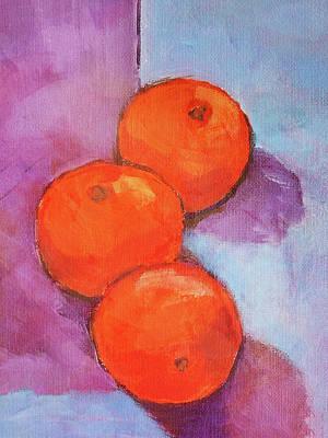 Tres Naranjas Art Print by Arte Costa Blanca