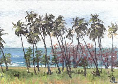 Puerto Rico Painting - Tres Palmas by Sarah Lynch