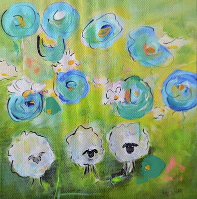 Painting - Tres Sheep by Teresa Tilley