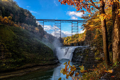 Photograph - Tressel Over The High Falls by Dick Wood