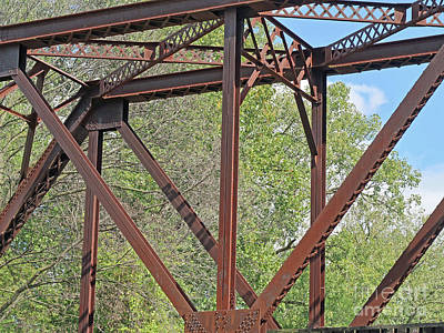 Transportation Royalty-Free and Rights-Managed Images - Trestle Bridgework by Ann Horn