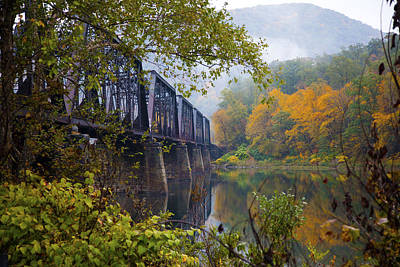 Trestle In Autumn Art Print by Hugh Smith