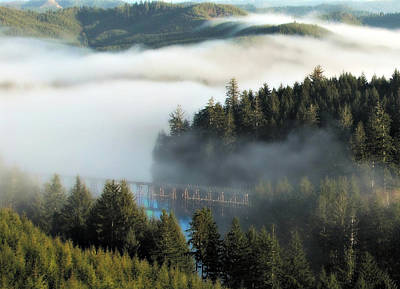 Photograph - Trestle In Fog by Katie Wing Vigil