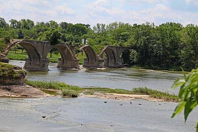 Photograph - Trestle Over The Maumee II by Michiale Schneider