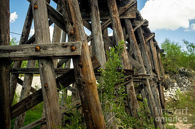 Photograph - Trestle Timber by Imagery by Charly