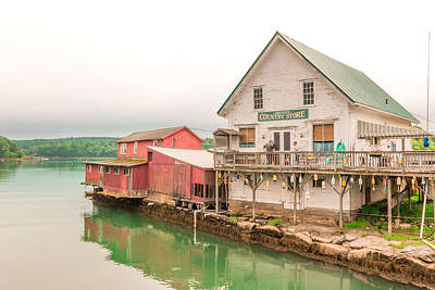 Maine Landscape Photograph - Trevett Country Store by Laurie Breton