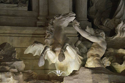 Photograph - Trevi At Night by JAMART Photography