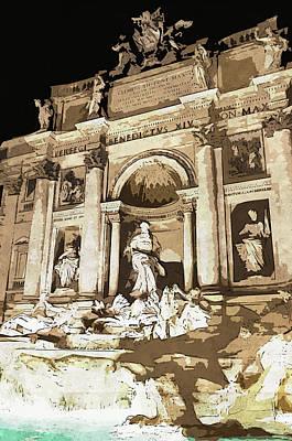 Painting - Trevi Fountain - 01 by Andrea Mazzocchetti