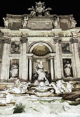 Painting - Trevi Fountain - 02 by Andrea Mazzocchetti