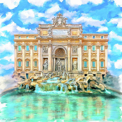 Photograph - La Dolce Vita - The Trevi Fountain In Rome by Mark E Tisdale