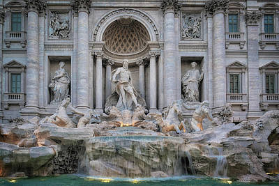 Photograph - Trevi Fountain by David Cote