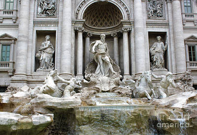 Photograph - Trevi Fountain by Gregory Dyer
