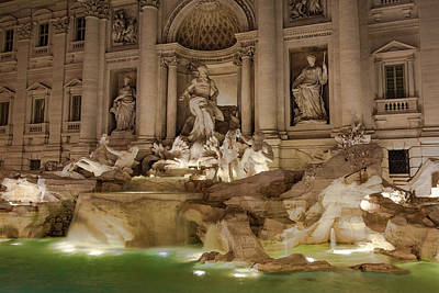 Photograph - Trevi Fountain II by Gary Lengyel