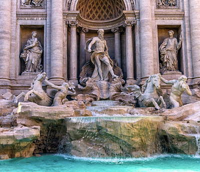 Photograph - Trevi Fountain, Roma, Italy by Elenarts - Elena Duvernay photo