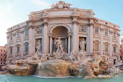Photograph - Trevi Fountain Rome 1 by Rudi Prott