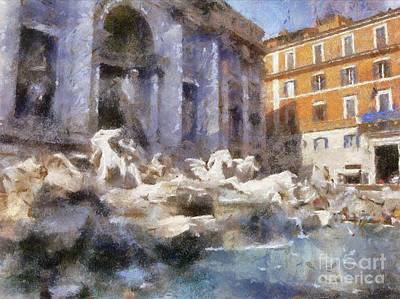 Trevi Fountain, Rome By Sarah Kirk Art Print