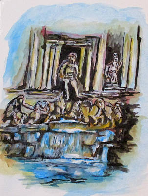 Painting - Trevi Fountain, Rome by Clyde J Kell