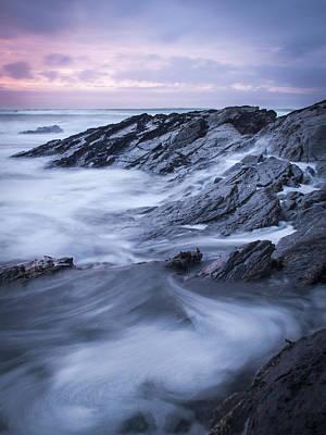 Trevone Photograph - Trevone Bay by Alex Stevenson