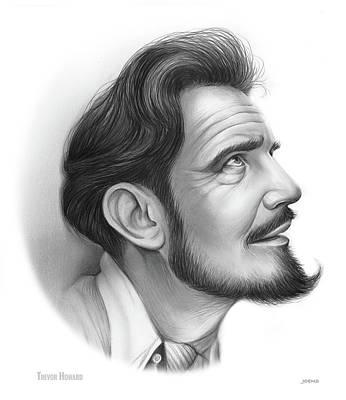 Drawings - Trevor Howard by Greg Joens
