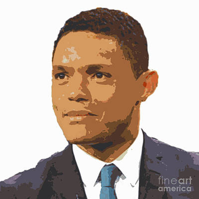 Landmarks Painting Royalty Free Images - Trevor Noah  Royalty-Free Image by Pd