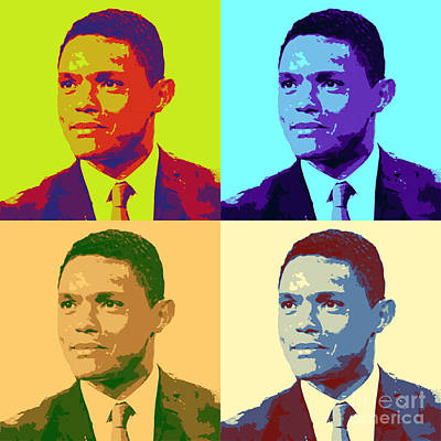 Jon Stewart Painting - Trevor Noah Pop Art by Pd